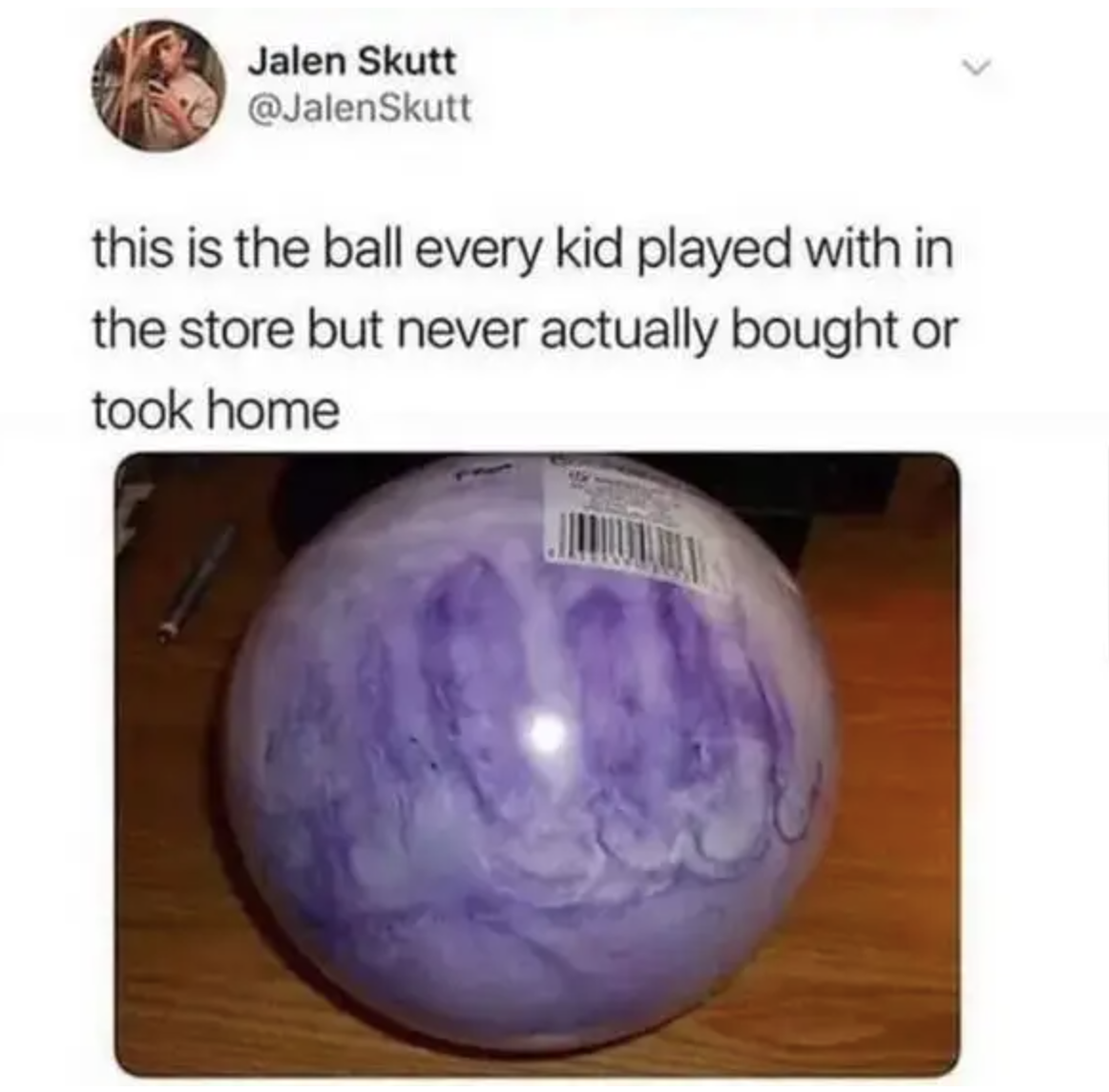 purple inflatable ball