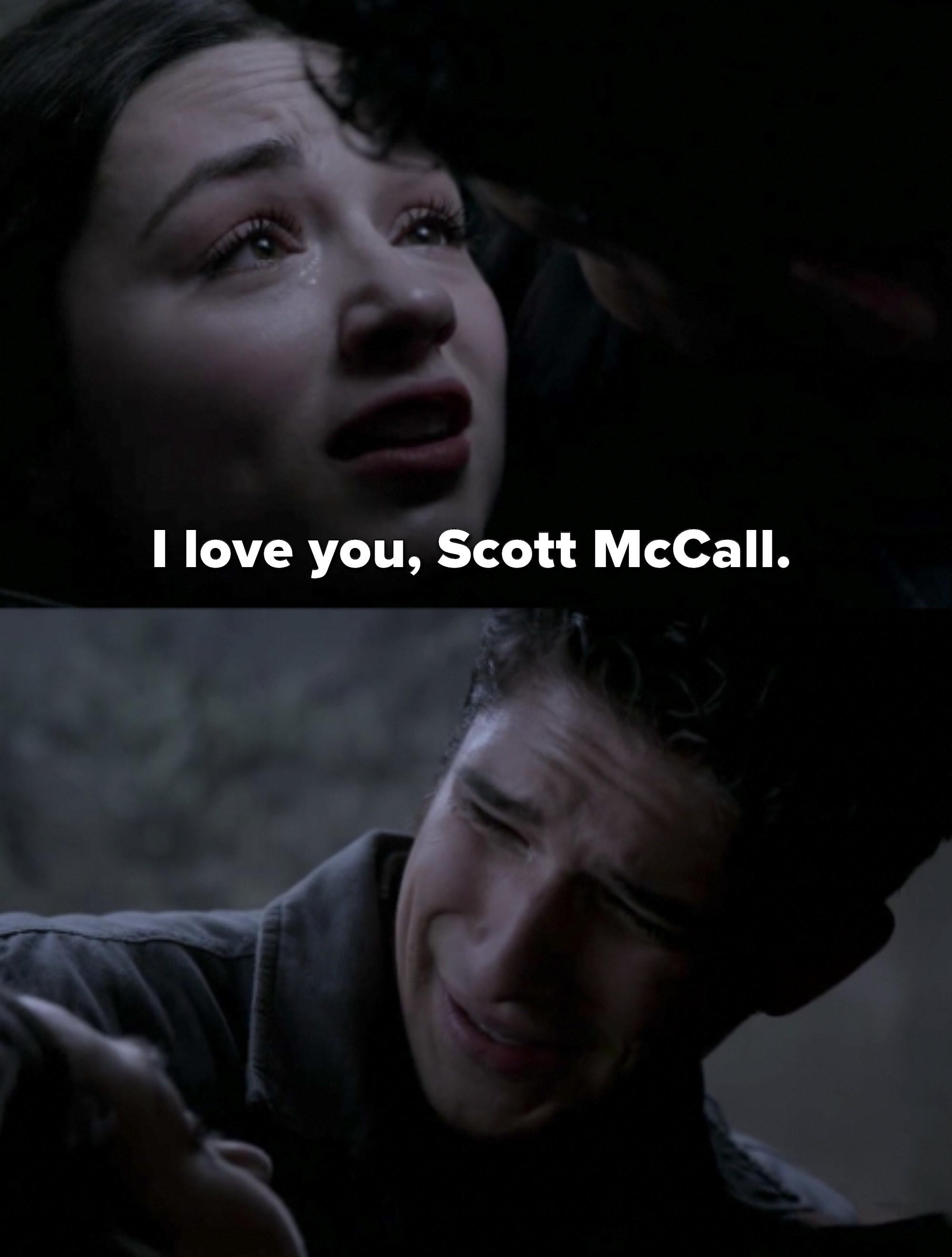 Allison tells Scott she loves him