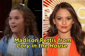 """Madison Pettis in """"Cory in the house"""" and Maddison Pettis as an adult"""