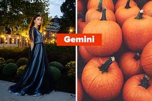 gemini and pumpkins