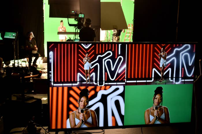 Keke Palmer hosts the 2020 MTV Video Music Awards.