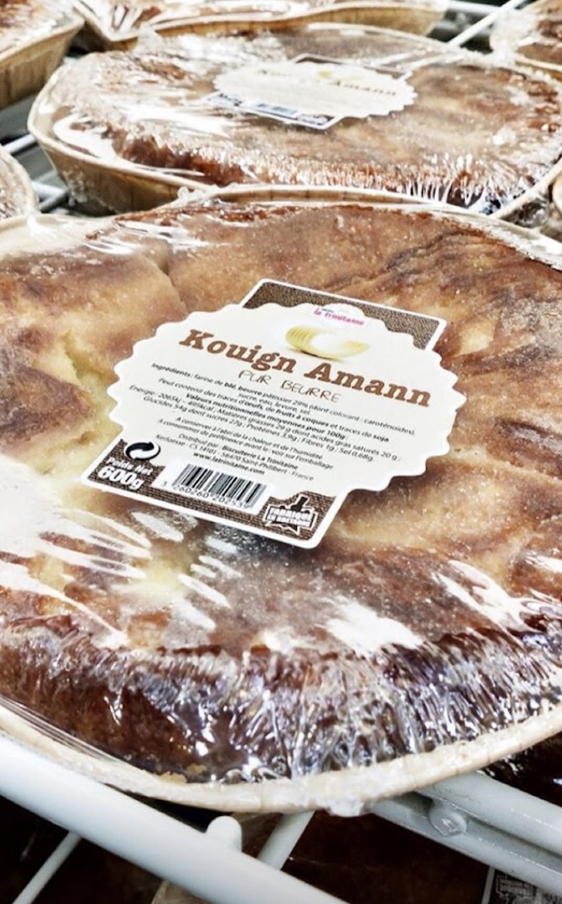 Kouign Amann cakes found in the bakery at Costco France.