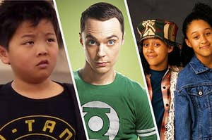 Eddie from Fresh off the boat, sheldon from Big Bang, and the sisters from sister sister
