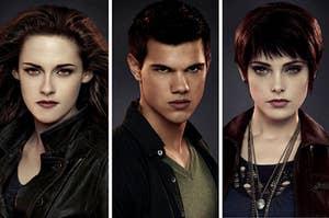 Bella, Jacob, and Alice