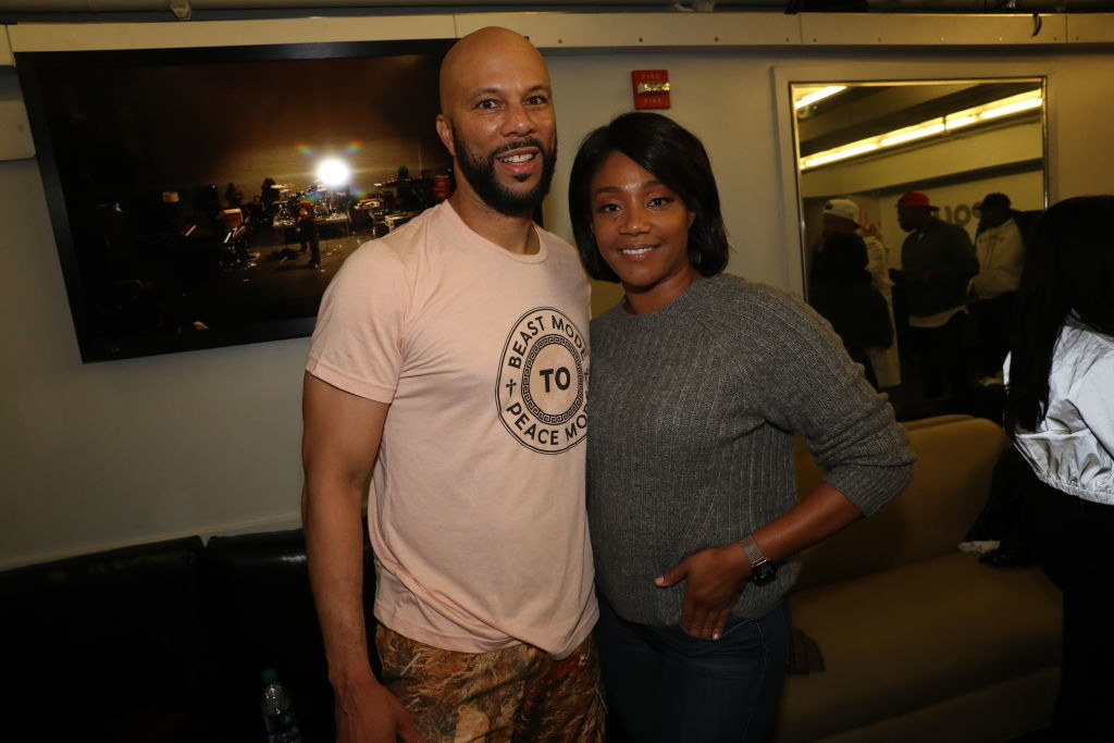 Common and Tiffany Haddish coupled together at an event