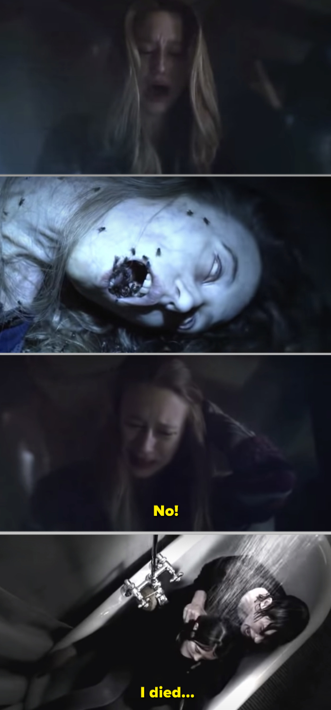 Violet discovering her own corpse