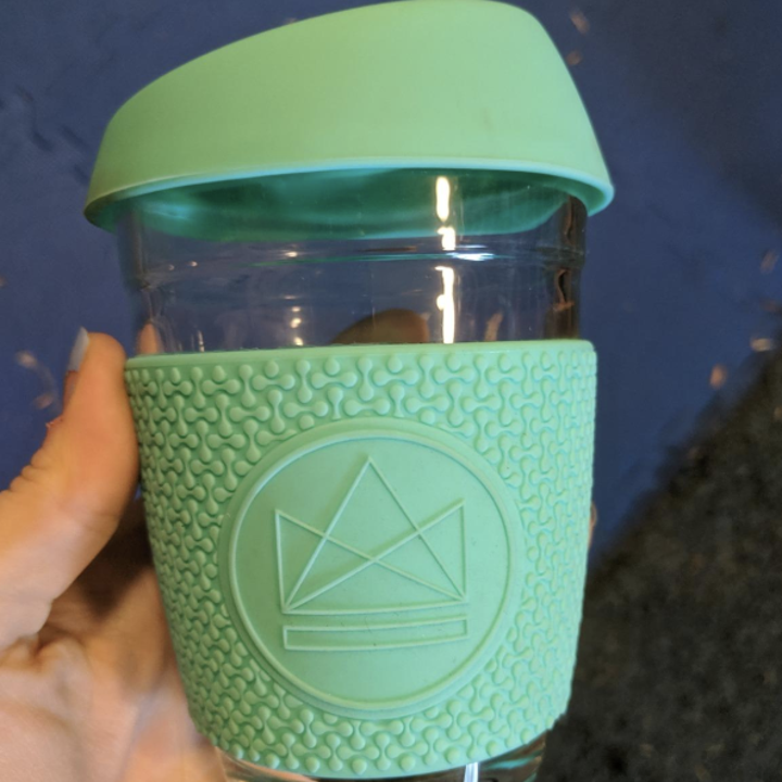 Reviewer image of light blue cup