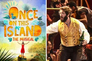 The Once on this island soundtrack and Josh Groban in natasha pierre and the great comet