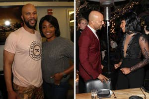 Tiffany Haddish and Common posing together at events