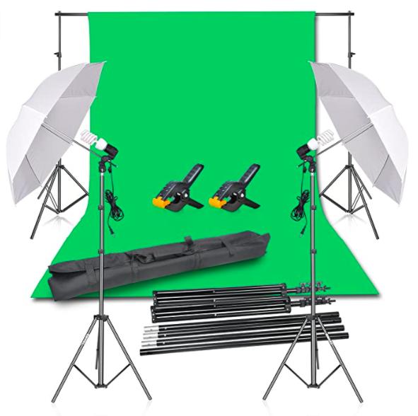 The full Emart Photography Backdrop kit