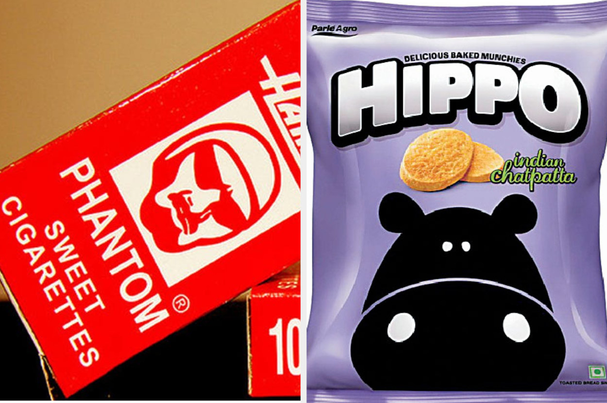 Image of Phantom Sweet Cigarettes candy and Hippo baked chips.