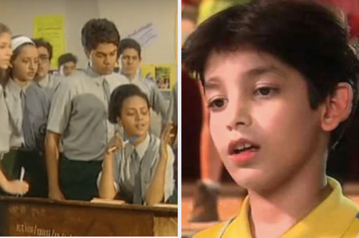 Images of school students and a teenage kid from the television shows Hip Hip Hurray and Just Mohabbat, respectively.