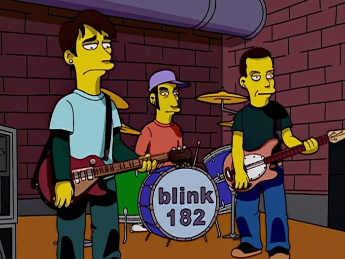 Animation of Blink 182 in The Simpsons