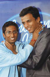Image of Amit Sana and Abhijeet Sawant, both contestants on Indian Idol.