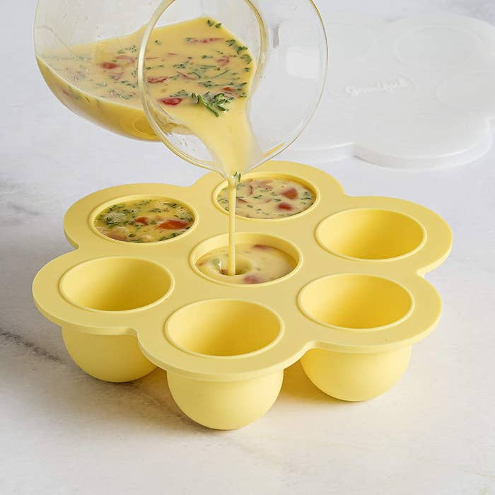 The silicone egg bites mold with seven compartments