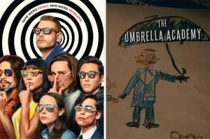 The Umbrella Academy poster art.