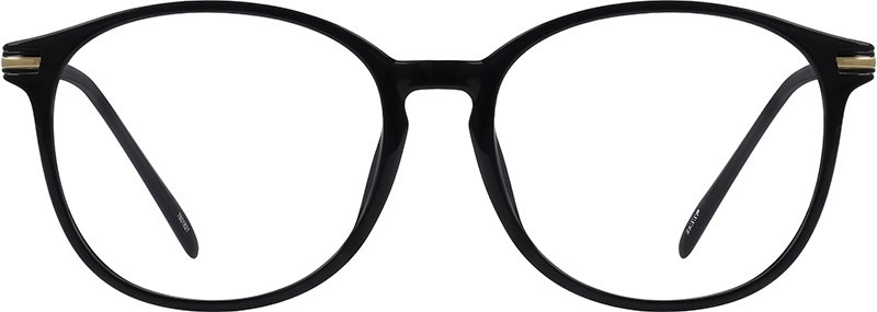 The black round glasses with metal accents at the corners