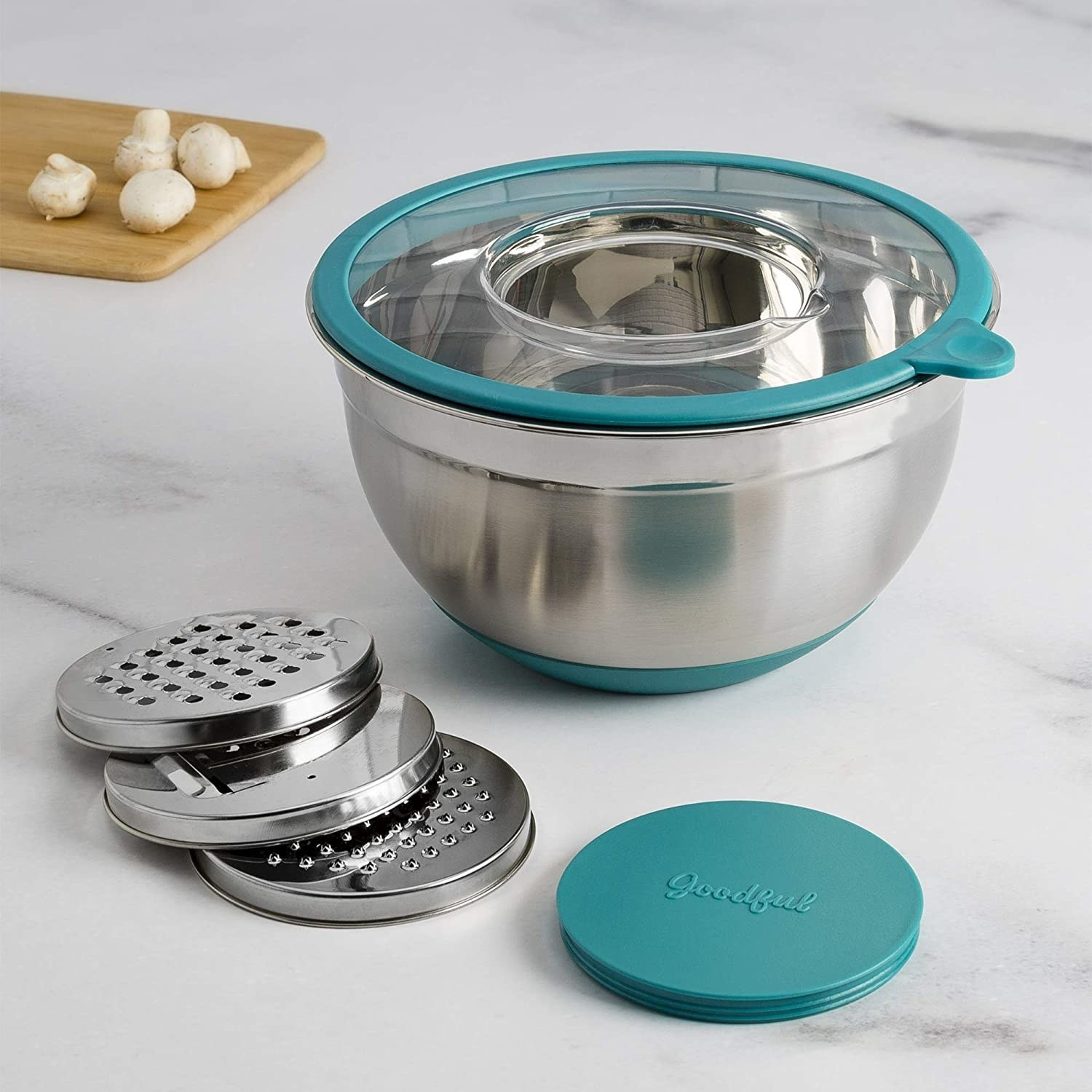 the bowl with the three grating attachment
