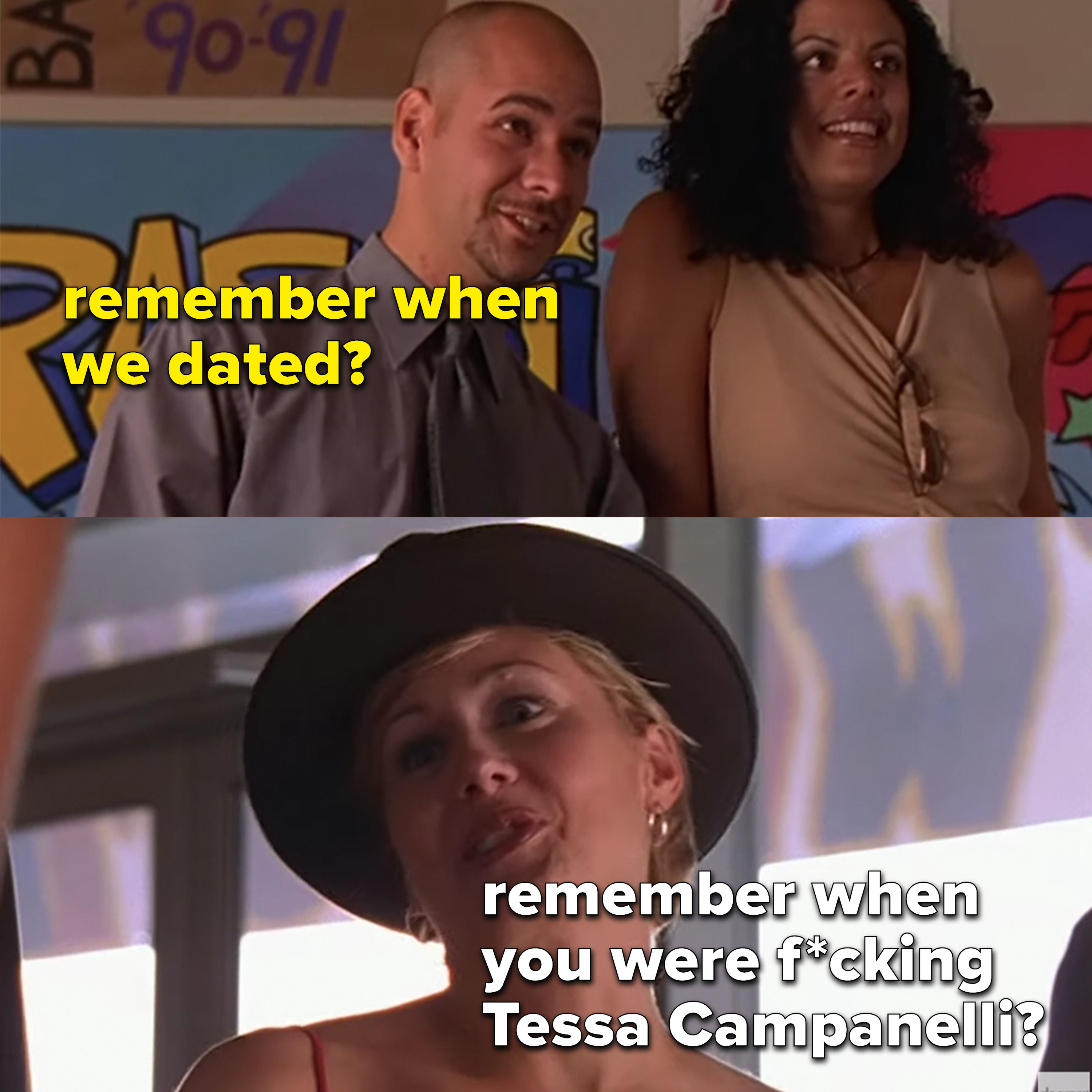 "Joey: ""remember when we dated?,"" Caitlin ""remember when you were fucking Tessa?"""