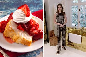 Strawberry shortcake and Kendall Jenner at home.