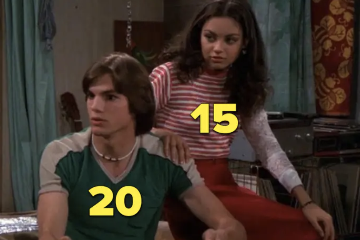 "Mila Kunis and Ashton Kutcher in ""That '70s Show"""
