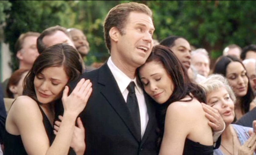 Will Ferrell lecherously comforts two women at a funeral