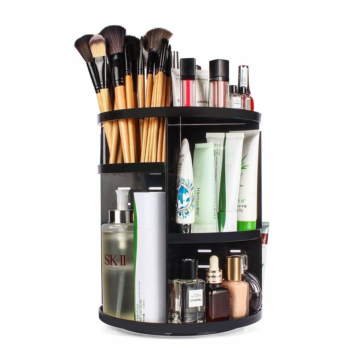 A rotating makeup organiser