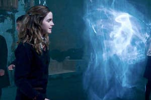 Hermione and an otter patronus