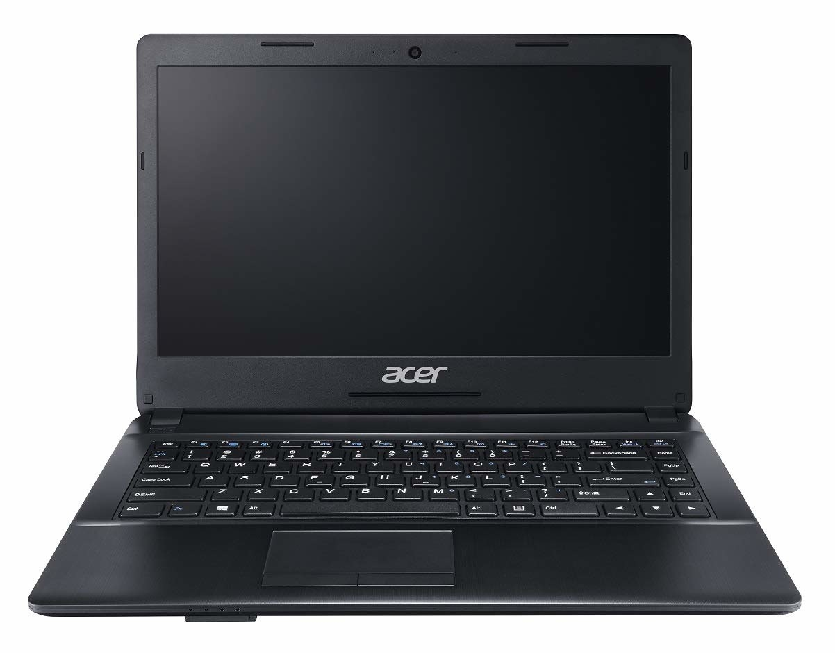 An Acer One laptop in black
