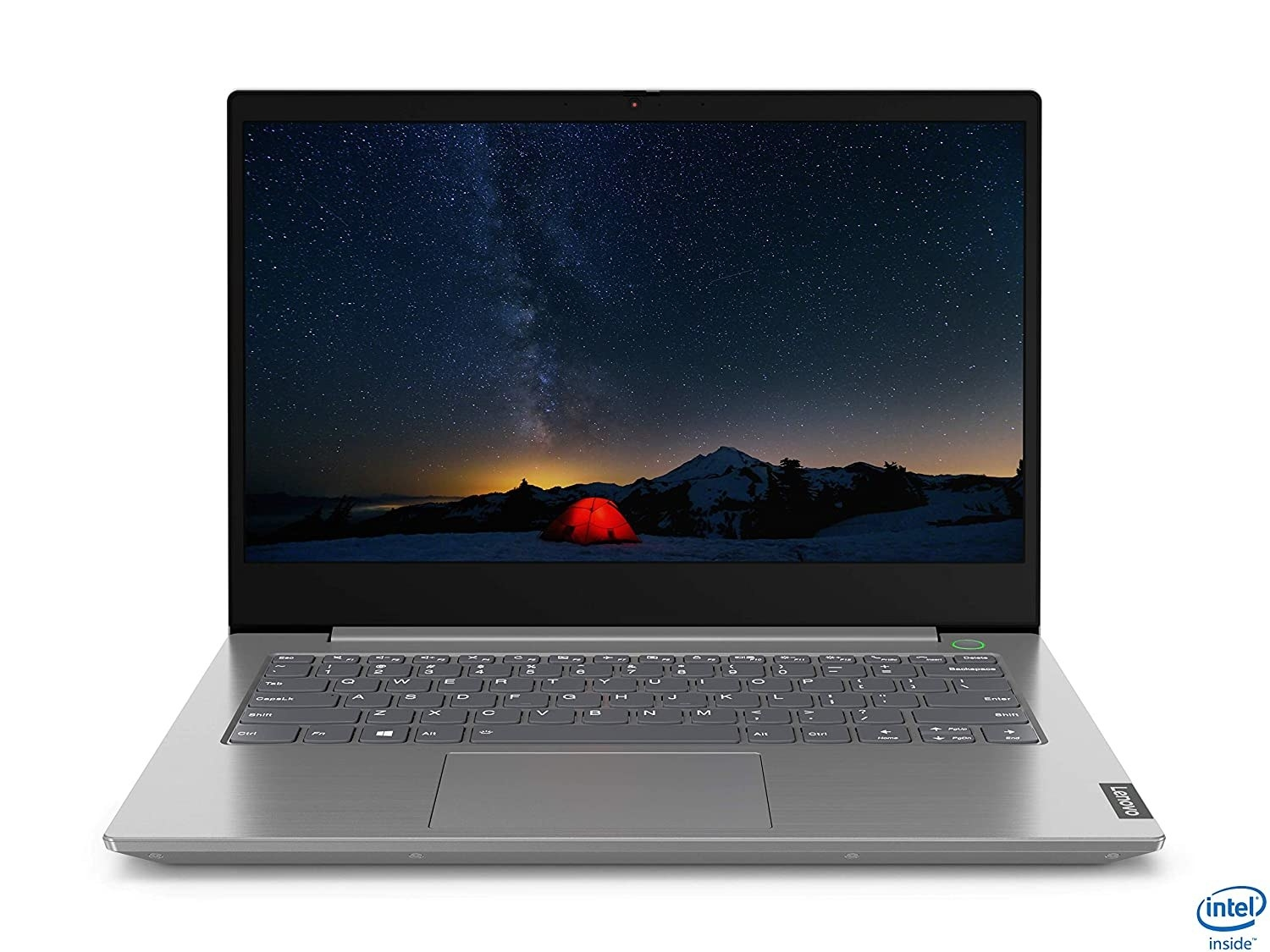 A Lenovo ThinkBook 14 in mineral grey