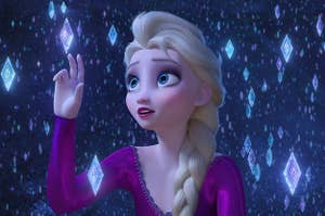 Elsa singing Into the Unknown
