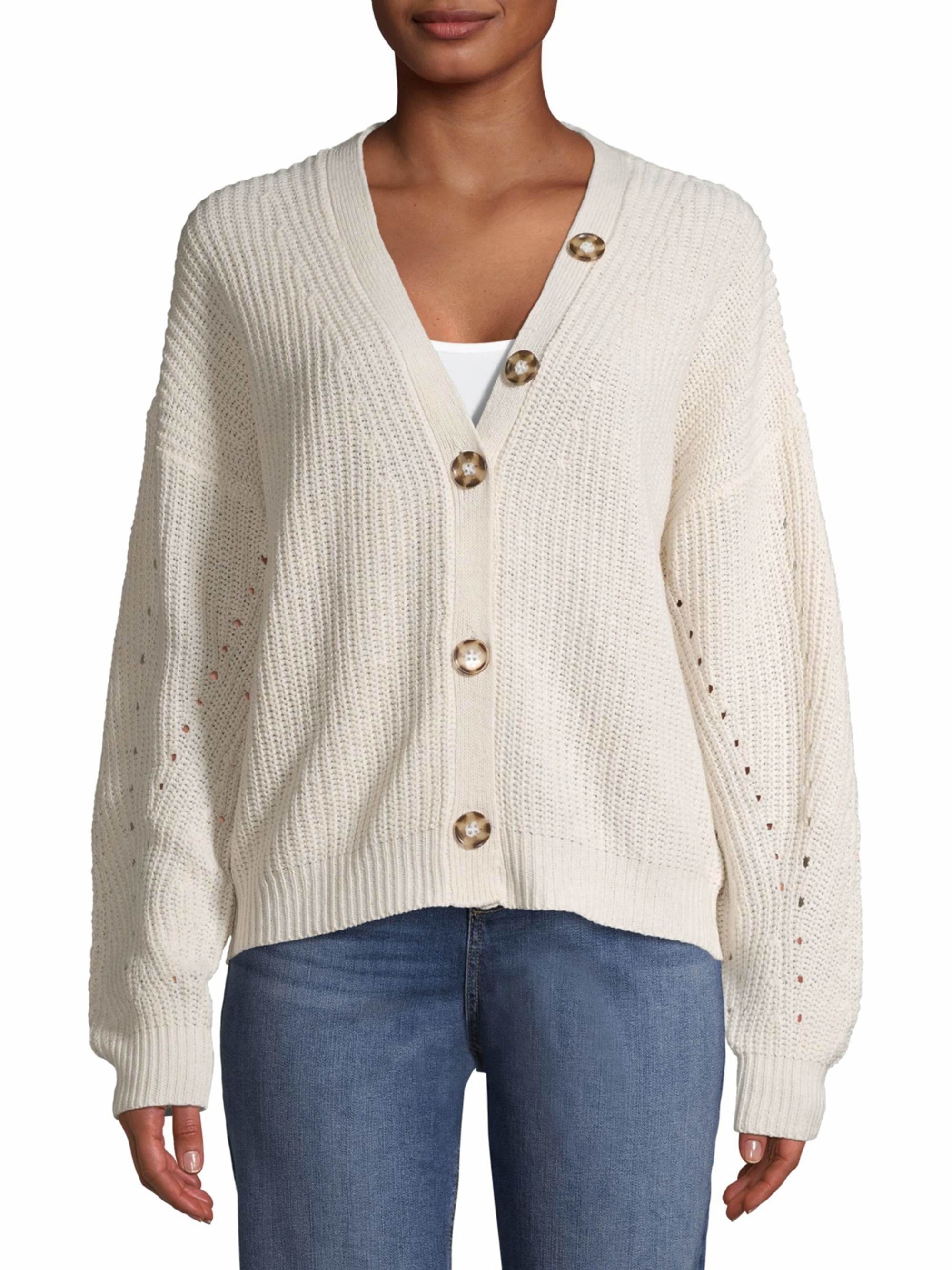 the cardigan in white