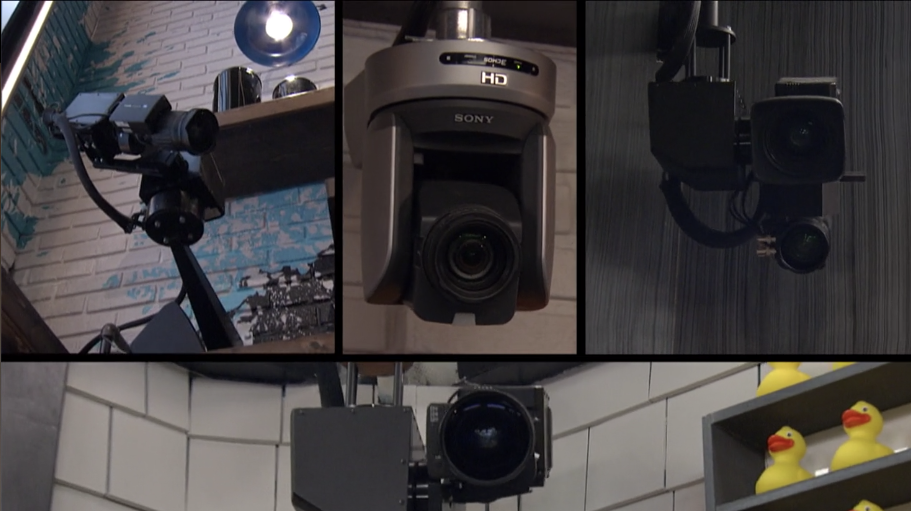 Multiple photos of the cameras inside the house