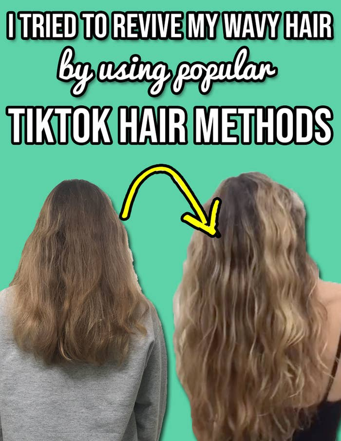 i tried to revive my wavy hair using popular tiktok hair methods