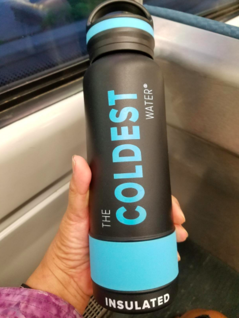A customer review photo of the The Coldest Water Bottle.