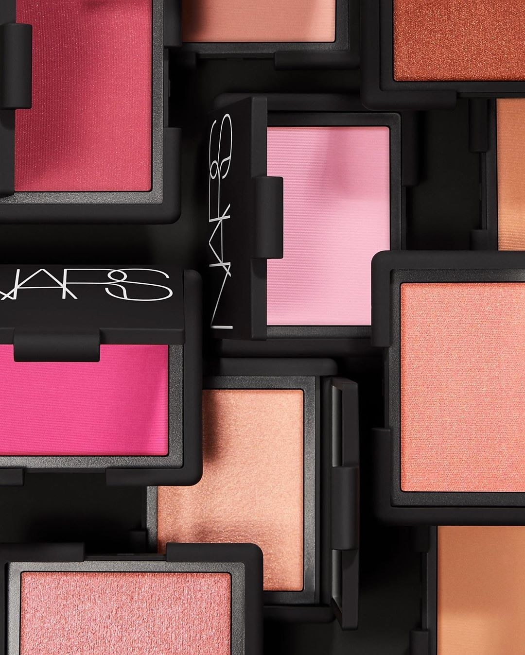 The blush in various shades of nude and pink