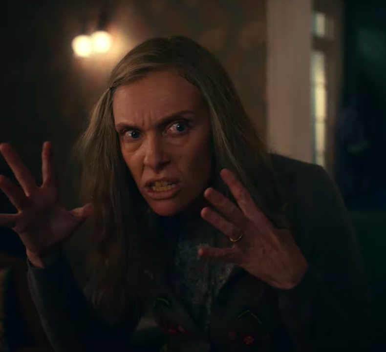 "Toni Collette looking intense in ""I'm Thinking Of Ending Things."""