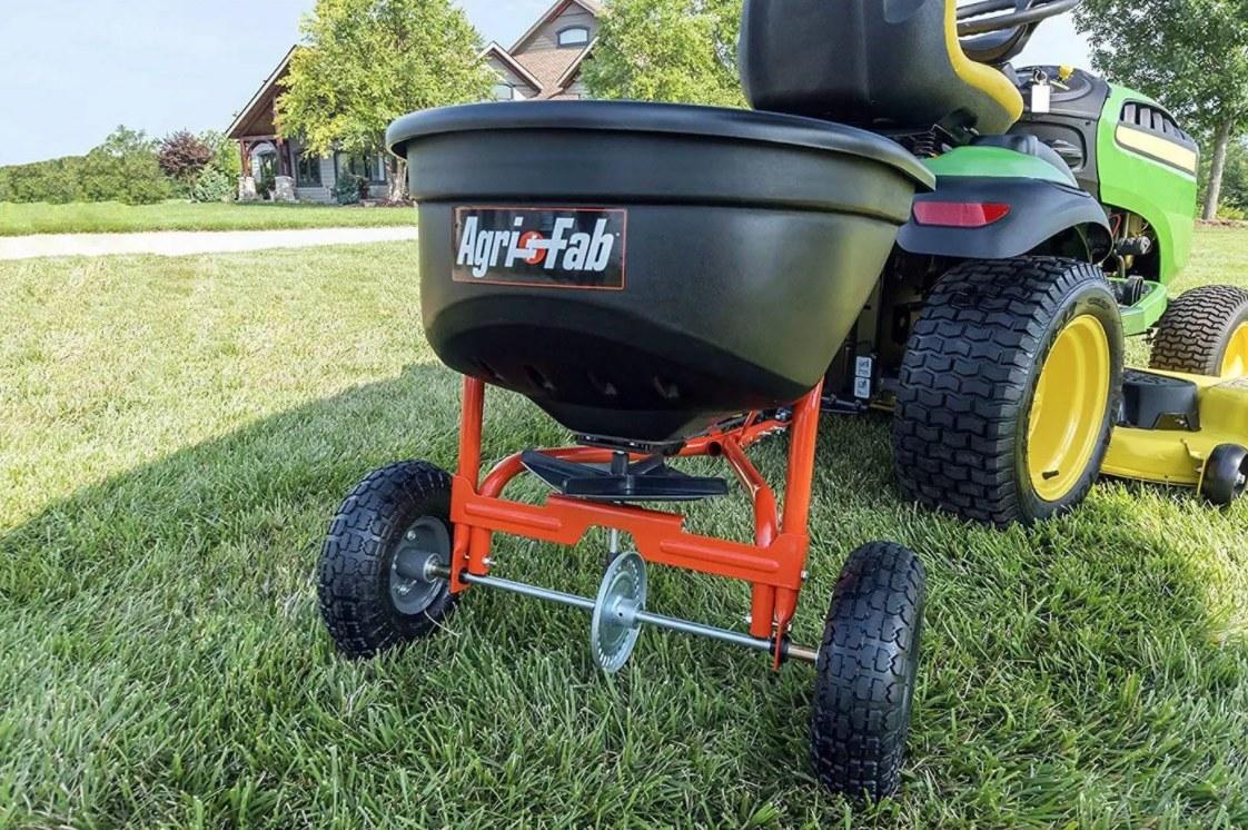 The orange wheeled tow