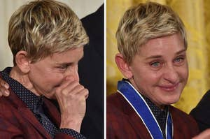 Ellen Degeneress crying