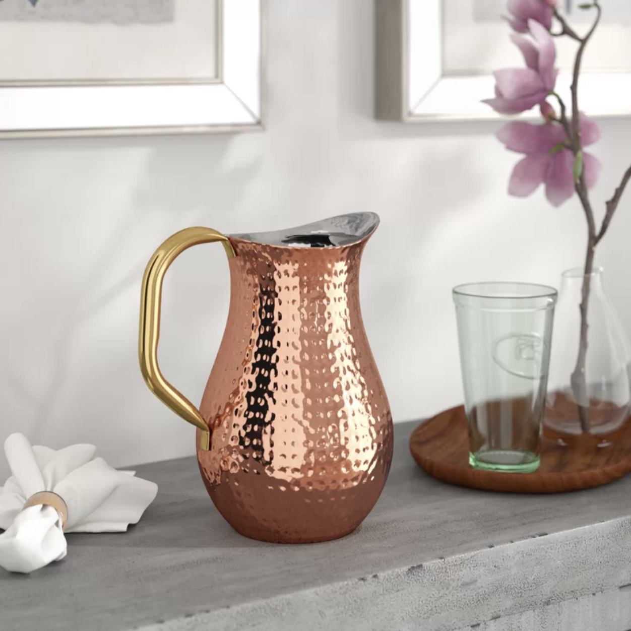 The copper pitcher