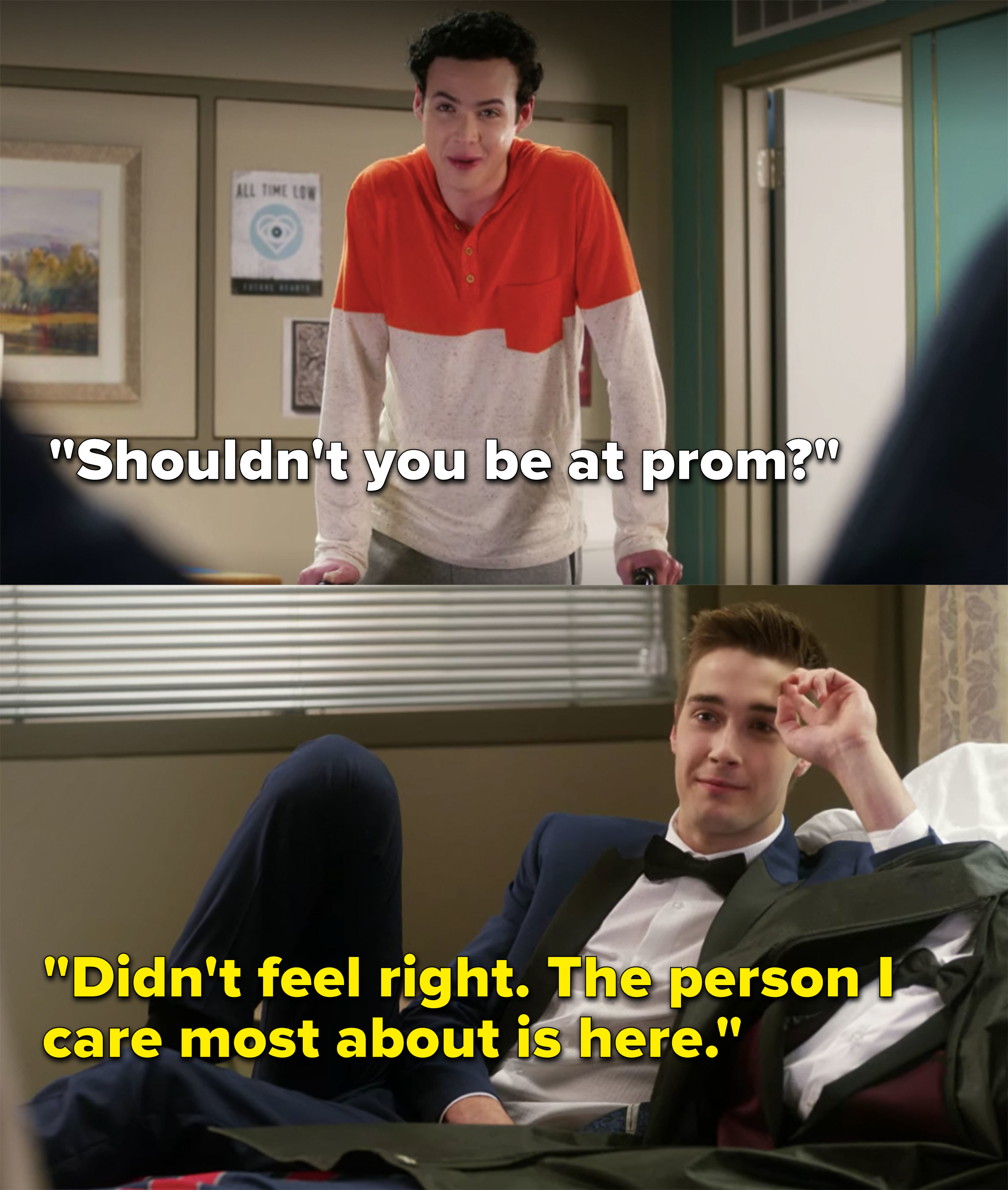 Miles tells Tristan it didn't feel right being at prom without him