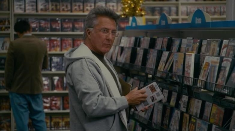 Dustin Hoffman at a video store in The Holiday