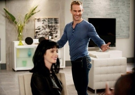 James Van Der Beek and Krysten Ritter as Chloe in Don't Trust The B in Apartment 23