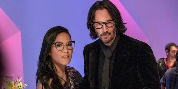 keanu reeves standing next to Ali Wong as Sash in Always be my maybe