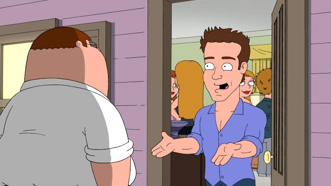 Animation of Ryan Reynolds in Family Guy