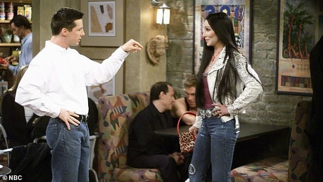 Sean Hayes as Jack pointing at Cher in Will and Grace
