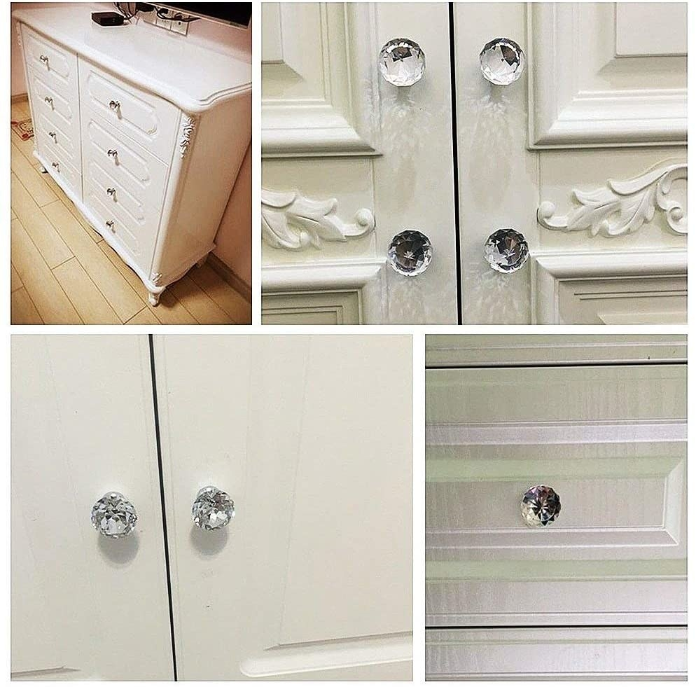 The crystal knobs on dressers and closets
