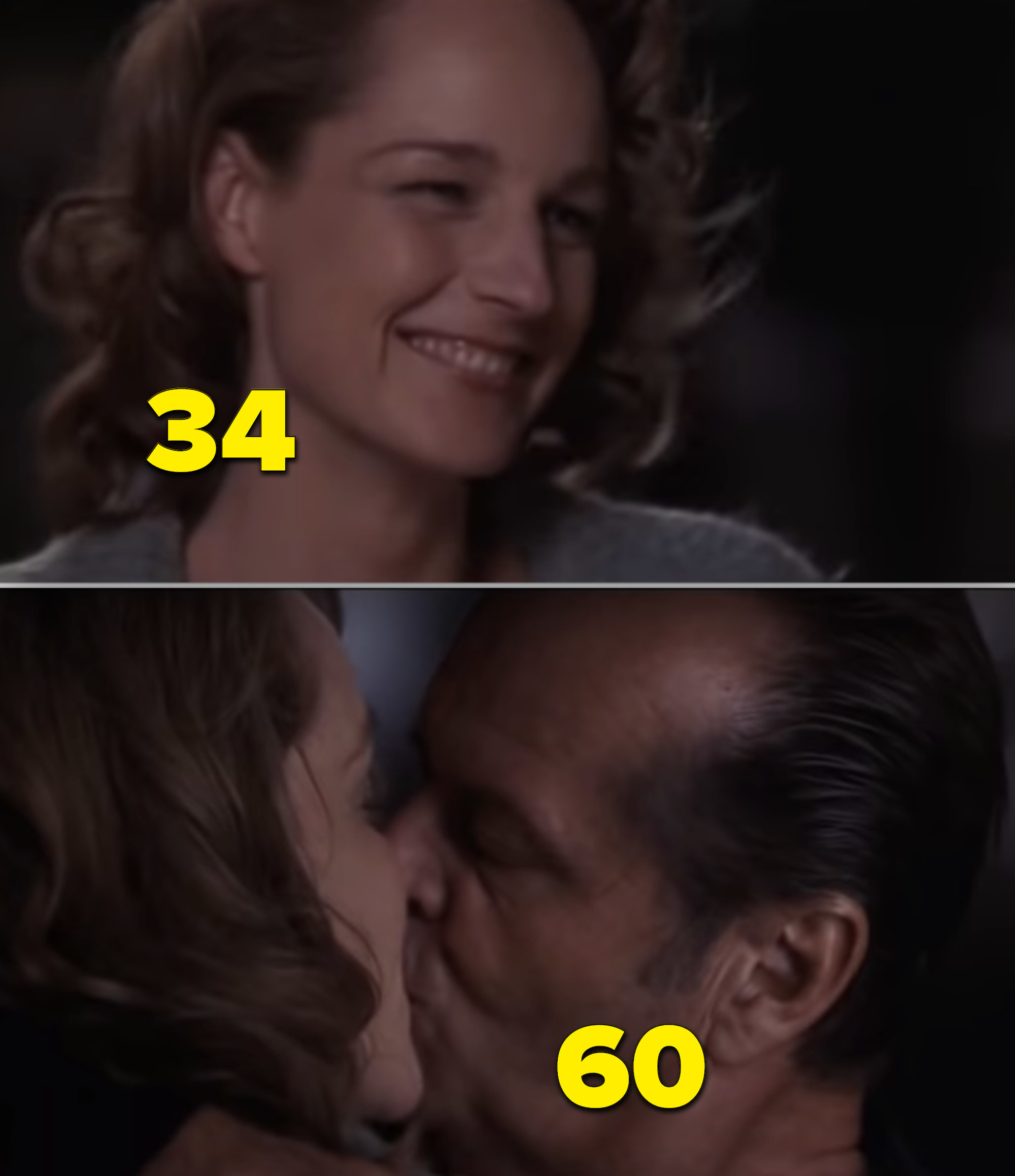 "Helen Hunt and Jack Nicholson kissing in ""As Good as It Gets"""