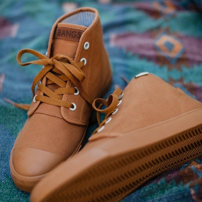 The canvas high-top sneaker in brown with brown laces