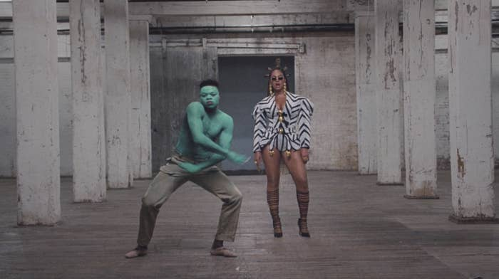 "Papi Ojo dances in front of Beyoncé in ""Black Is King"""